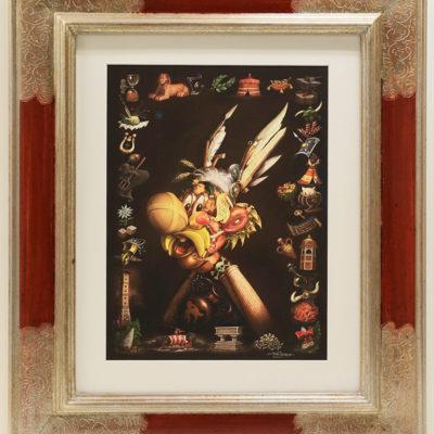 Cadre quatre coins bouchés Asterix