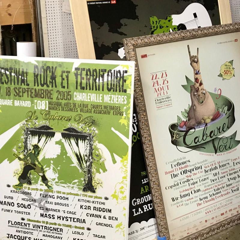Affiches du Cabaret Vert